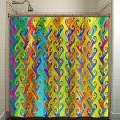 rainbow colors multicolor bright colorful shower curtain  bathroom   k
