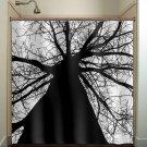 black trunk tree shower curtain  bathroom     window curtains
