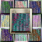 multicolor geometric colorful abstract art shower curtain  bathroom