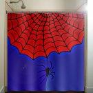 superhero spider web boy man shower curtain  bathroom     wind