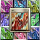 chevron hell modern mosaic art psychedelic shower curtain  bathroom