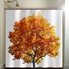 fall colors autumn tree shower curtain  bathroom     window cu
