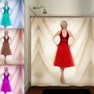 Fashionista Paris Runway Fashion Show Girl Shower Curtain  bathroom