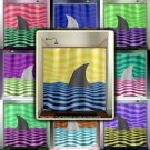 ocean shark fin shower curtain  bathroom     window curtains p