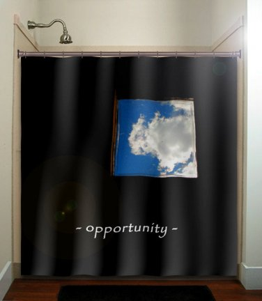 window of opportunity inspirational shower curtain  bathroom   kids ba