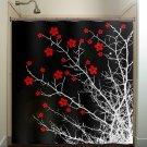 floral branch flower tree cherry blossoms shower curtain  bathroom   k
