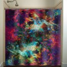 Nebula Cosmos Outer Space Rainbow Galaxy shower curtain  bathroom   ki