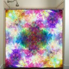 Rainbow Cosmos Nebula Outer Space Galaxy shower curtain  bathroom   ki