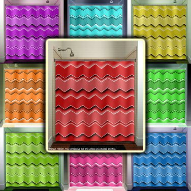 Any Custom Colors chevron shower curtain  bathroom     window