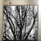 black tree branches shower curtain  bathroom     window curtai