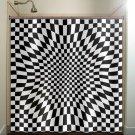 annoying zen checkered shower curtain  bathroom     window cur