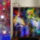 Mosaic Nebula Rainbow Outer Space Galaxy shower curtain  bathroom   ki