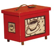 Hand Crafted Coffee Box with Spoon Handled Lid