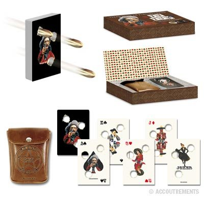 Texas Hold 'em Card Set Box, Includes Card Deck and Leather Card Case