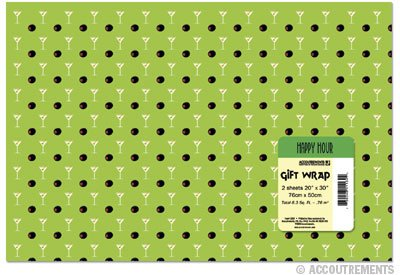 Martini Print Wrapping Paper