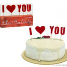 """I Love You"" Letter Candles"