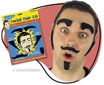 Adhesive Facial Hair Kit