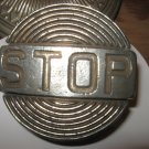 Metal Stop Sign Belt Buckle