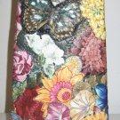 Hand Stitched Flower Design Vase Cover, Glass Vase Inside