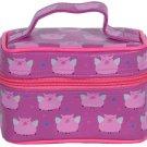 Purple Flying Pigs Train Case