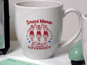 """Smart Women Elect To Make a Difference"" Ceramic Mug"