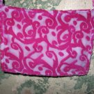 Hand Stitched Pink Velvet Design Purse