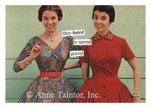 """""""They Hated to Spread Gossip"""" Blank Card with Envelope"""