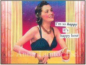 """I'm So Happy It's Happy Hour"" Set of 10 Party Invitations"