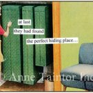 """""""At Long Last They Had Found the Perfect Hiding Place"""" Set of 10 Surprise Party Invitations"""