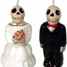 Day of the Dead Skeleton Wedding Couple Candle Set