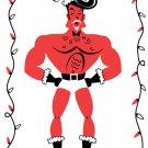 Hunky Santa Christmas Card