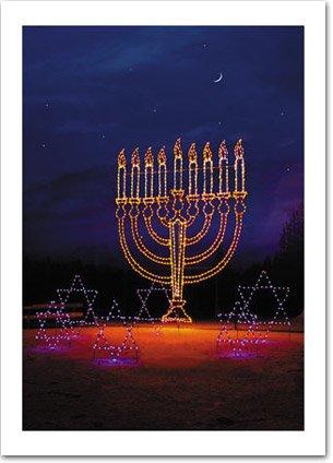 Menorah in Lights, Hanukkah Card