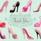 High Heel Shoe Thank You Card