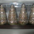 Set of Four Sparkle Christmas Trees, Tea Light Candles