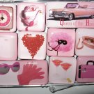 "Set of Ten ""Perfectly Pink"" Magnets"