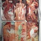 Set of Six Art Nouveau Magnets