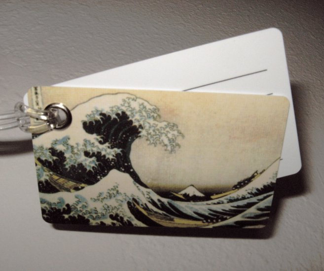 Double Sided Luggage Tag ~ The Wave
