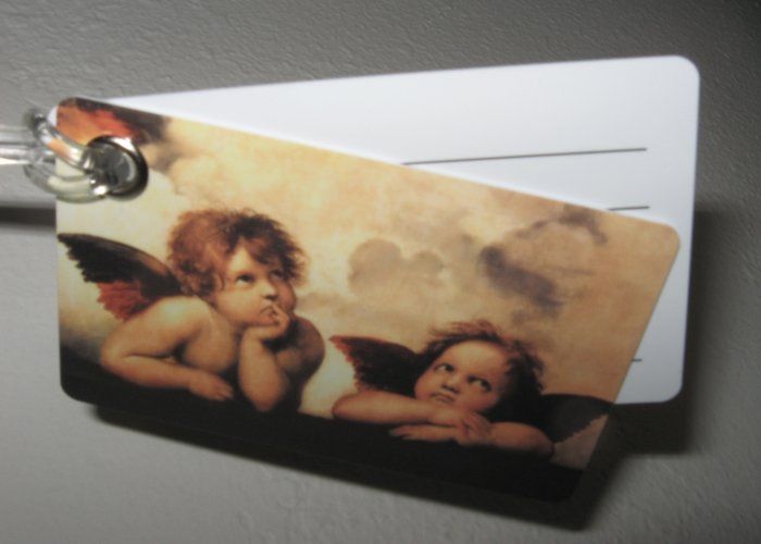 Double Sided Luggage Tag ~ Angels