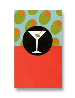 Mini Gift Card ~ Martini and Olives