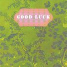 """Mini Card ~ Green Print with """"Good Luck"""" Banner"""