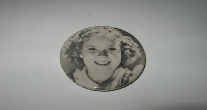 Vintage Shirley Temple Black and White Pin