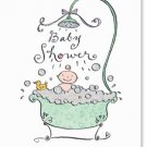 Ten Baby Shower Bathtub Invitations with Envelopes