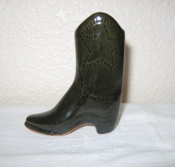 Dark Gray Colored Glass Boot