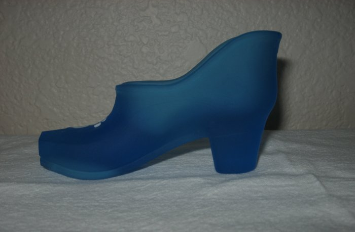 Westmoreland Frosted Royal Blue Hand Painted Shoe