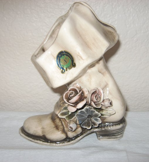 Very Beautifully Decorated Boot by Capidomonte of Italy