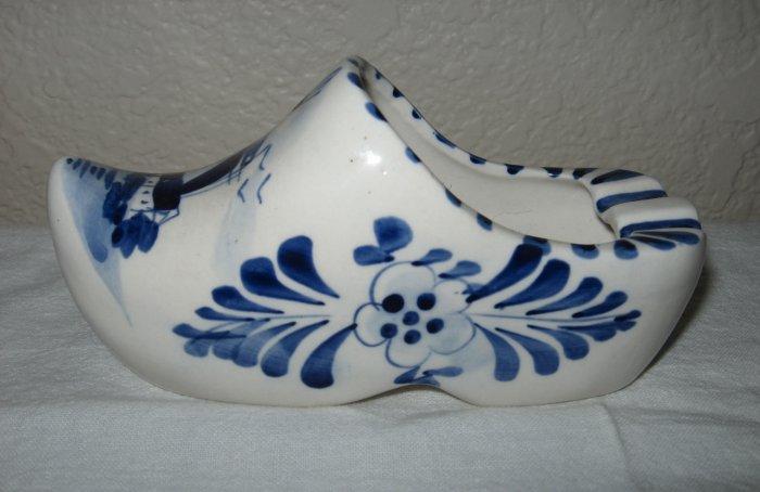 Ceramic Hand Painted Delft Blue Dutch Clog.