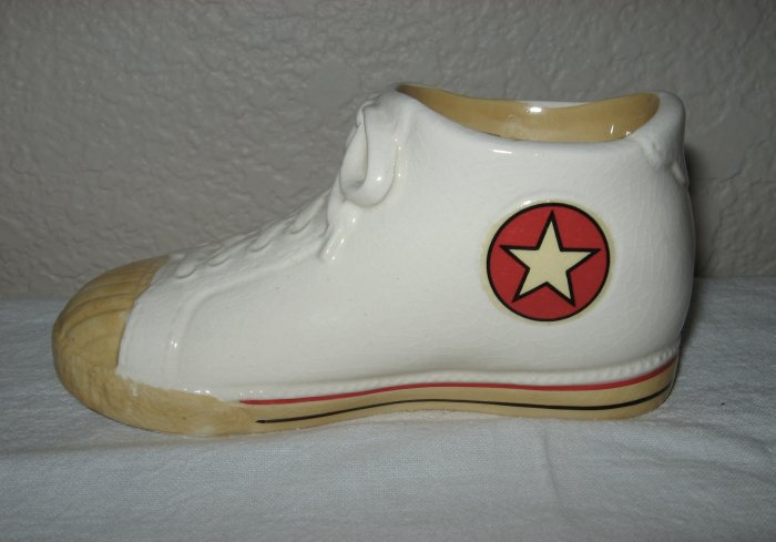White Glass Converse Candle Holder