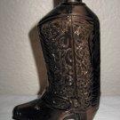 Brown Glass Cowboy Boot Avon Bottle, no Lid