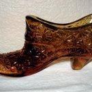 Amber Button and Daisy Glass Shoe (L. E. Smith).