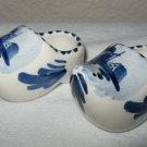 Pair of Ceramic Delft Blue Clogs (Holland).